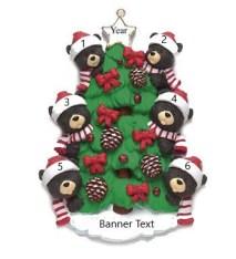 Bear Tree 6 Personalised Christmas Ornament
