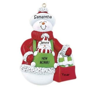 New Mommy With New Baby Personalised Christmas Ornament
