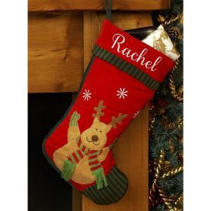 Personalised Christmas Stocking-Reindeer