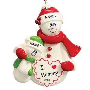 I Love Mommy 1 Personalised Christmas Ornament