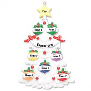 White Tree 7 Personalised Christmas Ornament 1