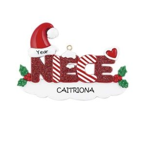 Niece Personalised Christmas Ornament