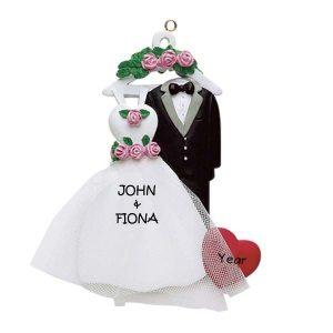 Wedding Attire Personalised Christmas Ornament
