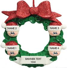 Button Wreath 4 Personalised Christmas Ornament