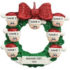 Button Wreath 7 Personalised Christmas Ornament