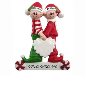 Elf couple ornament