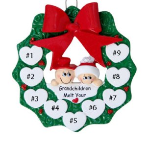 Snow Grandparents Personalised Christmas Ornament