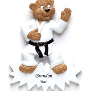 Karate Personalised Christmas Ornament