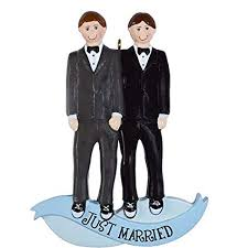Same Sex Marriage Men Personalised Christmas Ornament