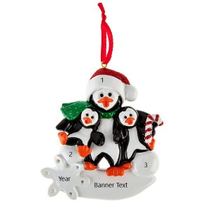 Penguin Parent 2 Personalised Christmas Ornament