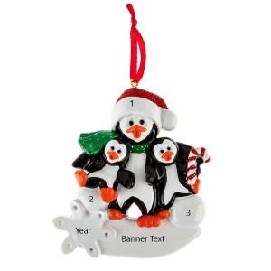 Penguin Parent 2 Personalised Christmas Ornament