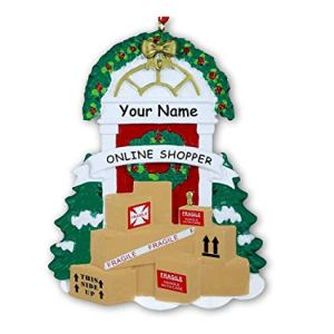 Online Shopper Personalised Christmas Ornament