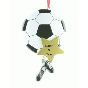 Soccer Star Personalised Christmas Ornament