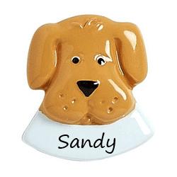 tan dog head