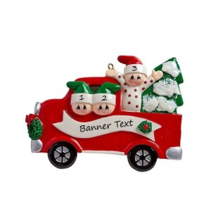 Tree Day Family -3 Christmas Ornament