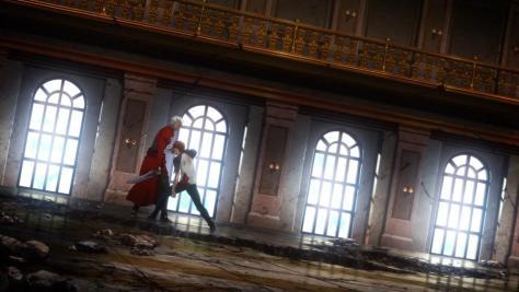 Sword man stabs Sword man with a Sword