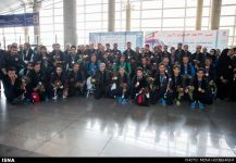2014 Asian Para Games - Athletes at Tehran Airport returning from Incheon, South Korea