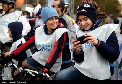 Iranian Cyclists Mark World Diabetes Day 00