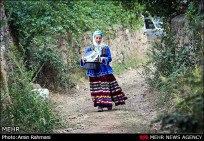 Colorful traditional Gilaki dress