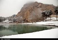 Iran Bisutun Bisotun Snow 04