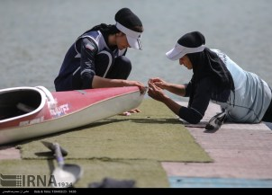 Tehran, Iran - Iran's rowing team training at Lake Azad Sports Complex 7