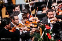 Tehran Symphony Orchestra and China Philarmonic Orchestra performing together on August 2015 in Tehran, Iran 10