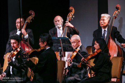 Tehran Symphony Orchestra and China Philarmonic Orchestra performing together on August 2015 in Tehran, Iran 11