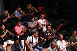 Tehran Symphony Orchestra and China Philarmonic Orchestra performing together on August 2015 in Tehran, Iran 5
