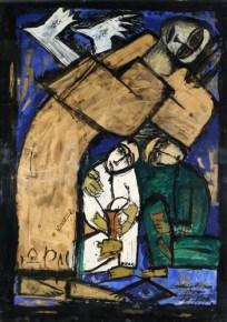 Iranian artist modern art Parviz Tanavoli Myth, 1961