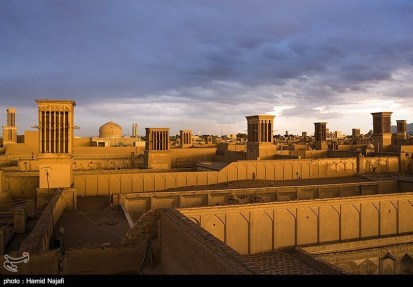 Yazd, Iran - Yazd City - Windcatchers (Ancient Iranian Cooling System) 01