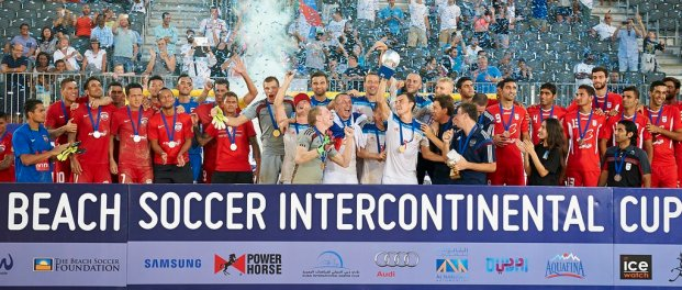 2015 Samsung Beach Soccer Intercontinental Cup - Winners - Russia (Gold), Tahiti (Silver), Iran (Bronze)