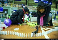 Domino competitions in Hamedan, Iran (2015) 02