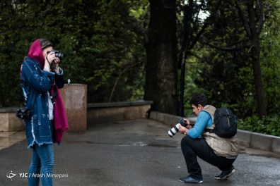 Tehran, Iran - Sudden spring rain in Tehran 02