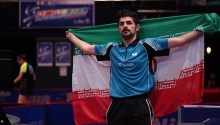 2016 ITTF Asia Olympic Qualification, Hong Kong - Iranian table tennis player Nima Alamiyan secured Olympic spot for Rio 2016