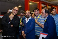 Fajr International Film Festival 2016 at Charsou Cineplex in Tehran, Iran - 11 - Filmmakers Reza Mirkarimi and Asghar Farhadi