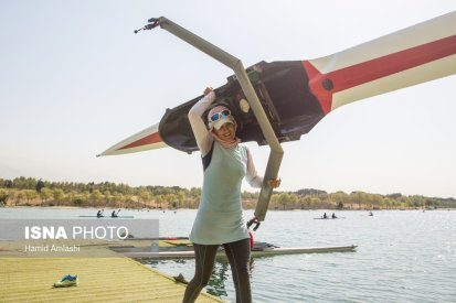 Javar, Mahsa - Iranian rower - 2016 Rio Olympic Games - Foto by Hamid Amlashi for ISNA - 1
