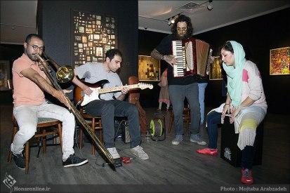 Nasser Palangi, Saghar Masudi and Kaveh Afaq's 'Peace Symphony' - Ariana Gallery 4