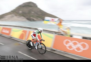 Rio 2016 - Cycling Road - Time Trial - Ghader Mizbani Iranagh - Olympic Games in Rio de Janeiro, Brazil - IRNA