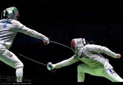 Rio 2016 - Fencing - Men's Sabre Individual - Mojtaba Abedini (Iran) and Vincent Anstett (France) - Olympic Games in Rio de Janeiro, Brazil - IRNA