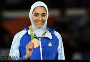 Rio 2016 - Taekwondo - Women's -57kg - Kimia Alizadeh Zenoorin (Bronze medal winner) - Olympic Games in Rio de Janeiro, Brazil - (IRNA) 01