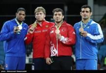 Rio 2016 - Wrestling - Greco-Roman 98kg - Gold A. Aleksanyan (Armenia), Silver Y.D. Lugo Cabrera (Cuba), Bronze C. Ildem (Turkey) and Ghasem Rezaei (Iran) - Foto M. Hassanzadeh (TNA)