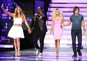 Mariah, Randy, Nicki and Keith