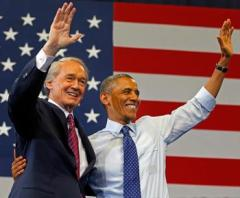 Obama attends a  a rally for senate candidate Ed Markey at the Reggie Lewis Center in Roxbury.