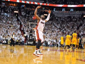 The Heat's Dwayne Wade acting like a jackass in the third quarter