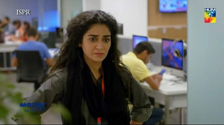 Hajra Yamin as Ramsha (the journalist (and predictability Sharique's love interest)