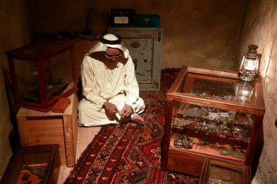 At the Dubai museum - a jeweller at work