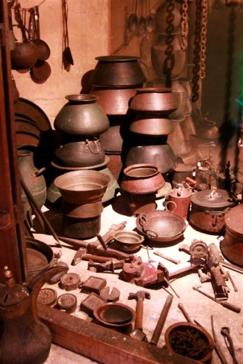 At the Dubai museum - an old pottery shop
