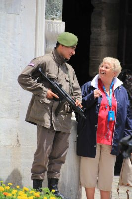 Topkapi Palace - Friendly security - with a serious weapon!