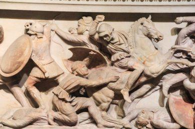 The Alexander Sarcophagus - a detail view