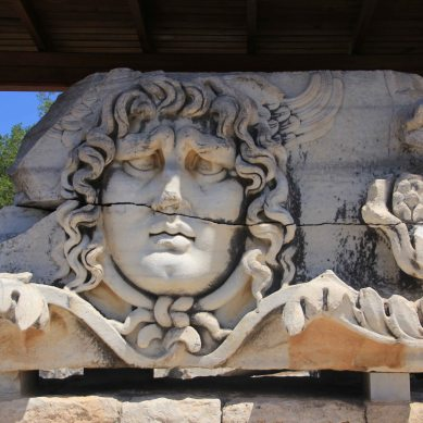 The medusa head is Didyma's most famous sculpture